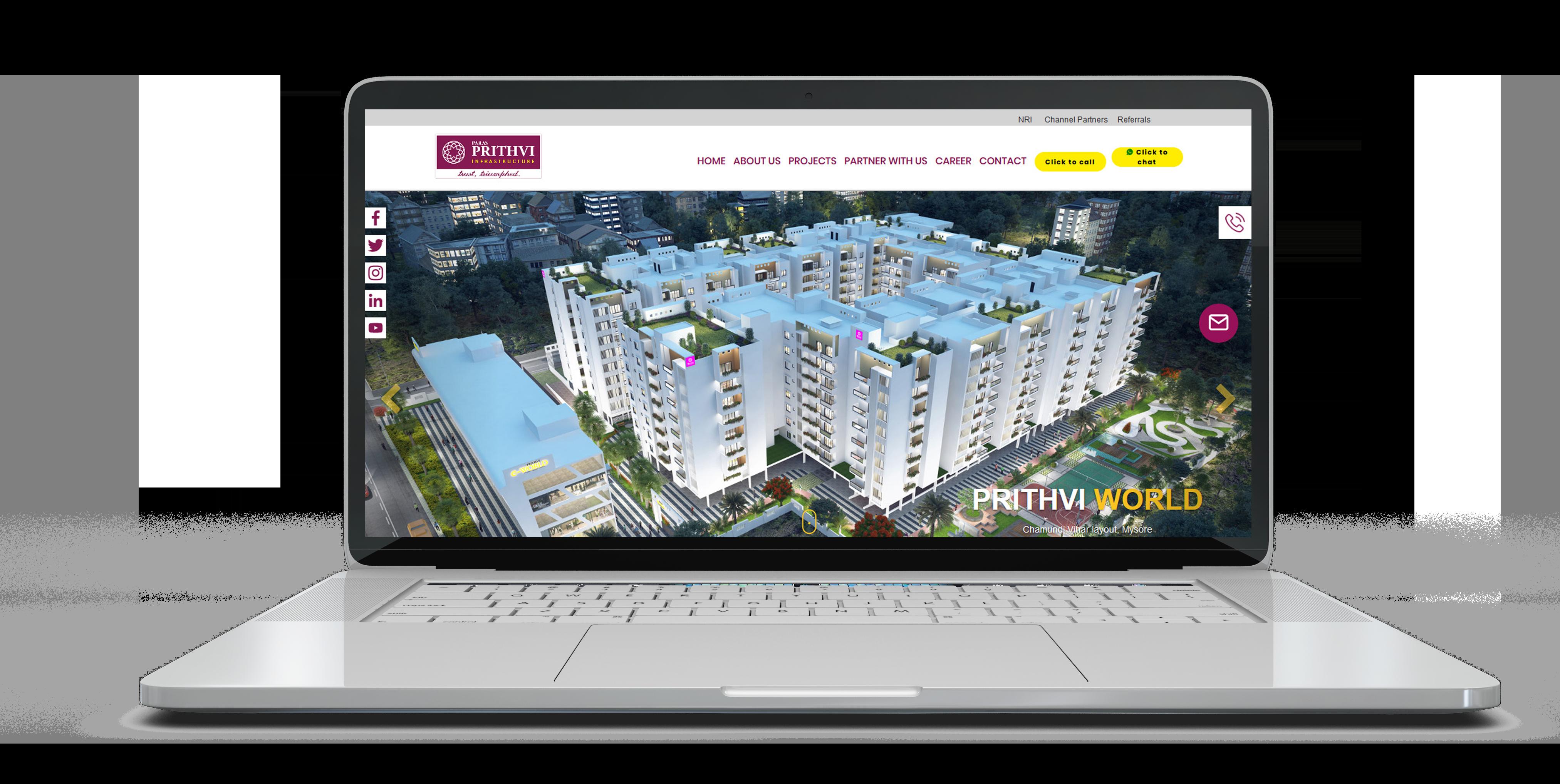 Crisant Technologies_portfolio_prithvi_desktop_mockup