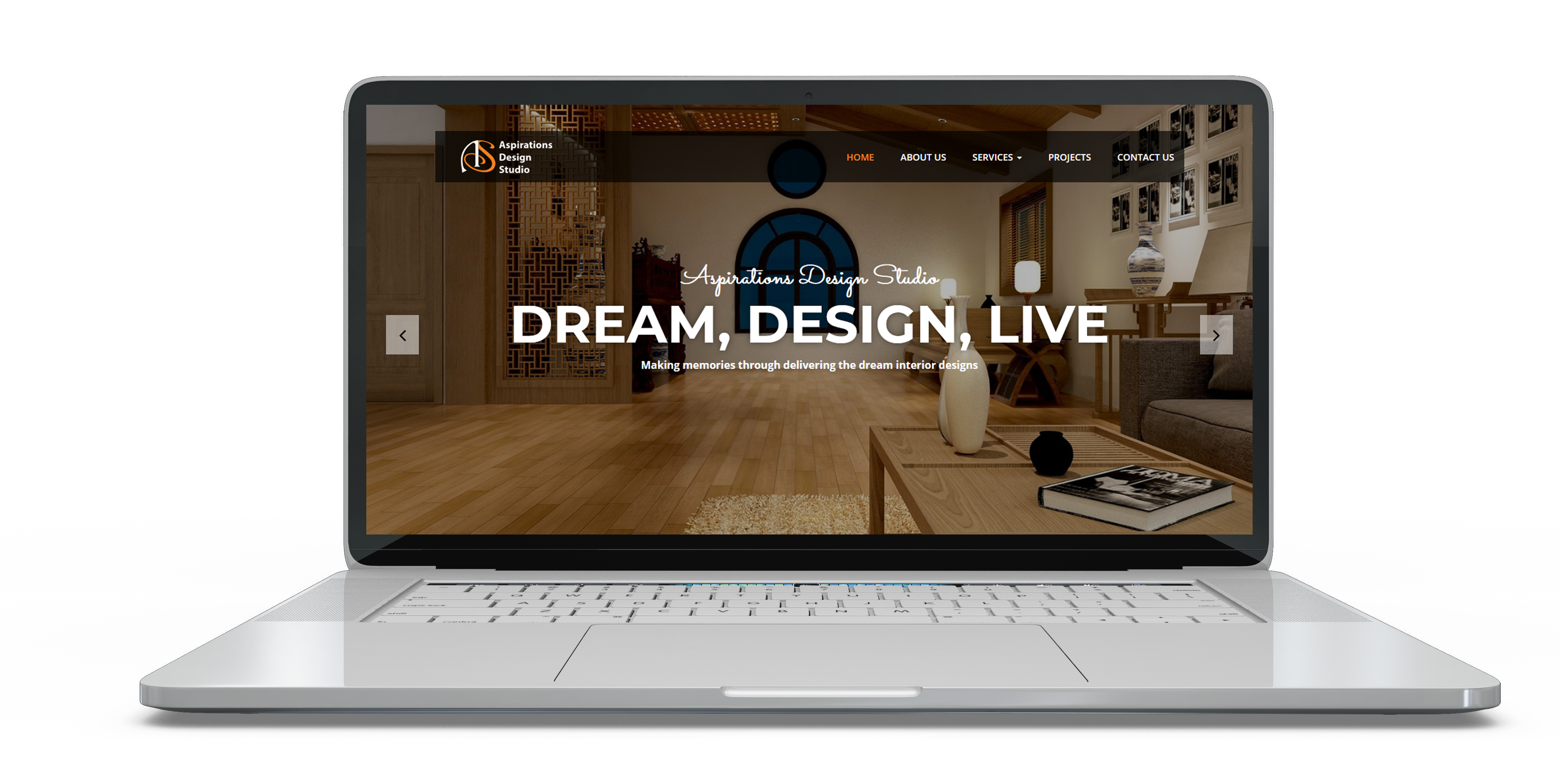 Crisant Technologies_portfolio_aspiration_design_desktop_mockup